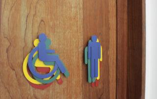 Pictogramas coloridos de porta
